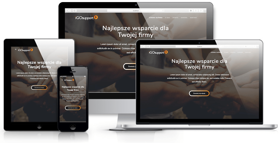 Strona internetowa firmy zajmującej się outsourcingiem sił sprzedażowych