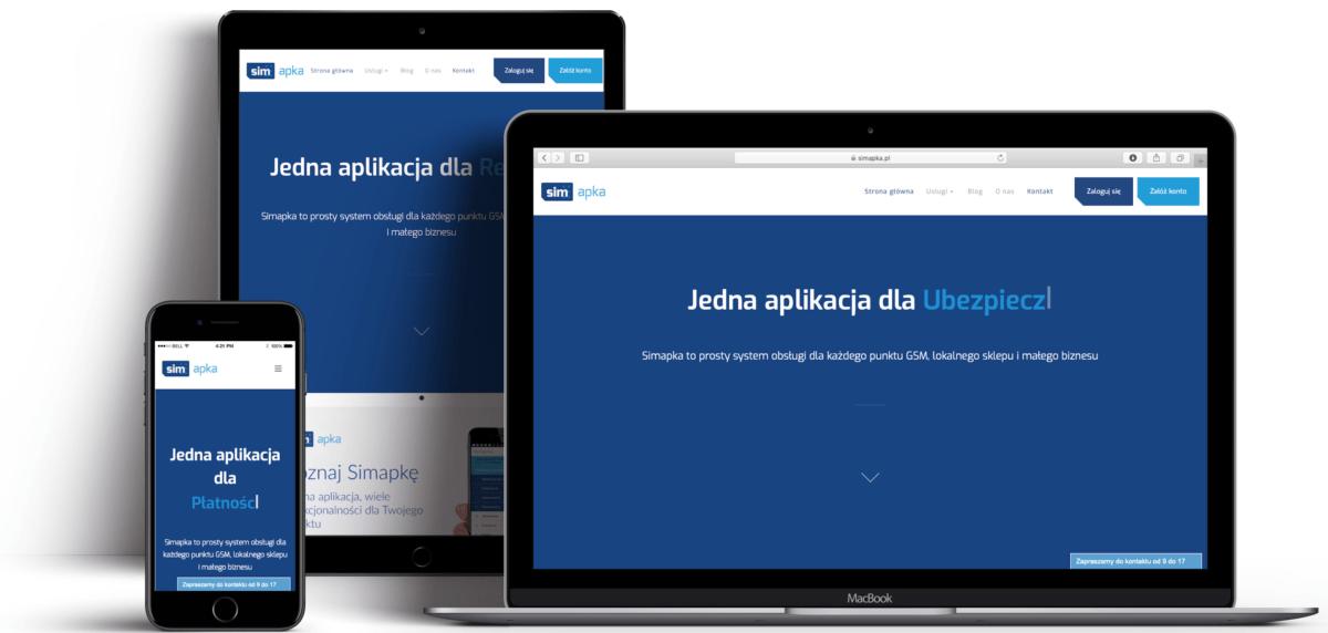 Strona internetowa aplikacji internetowej