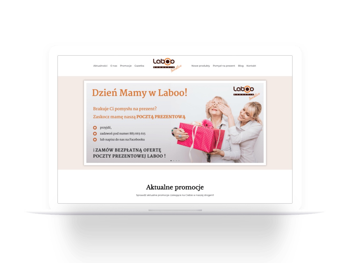 Strona internetowa drogerii