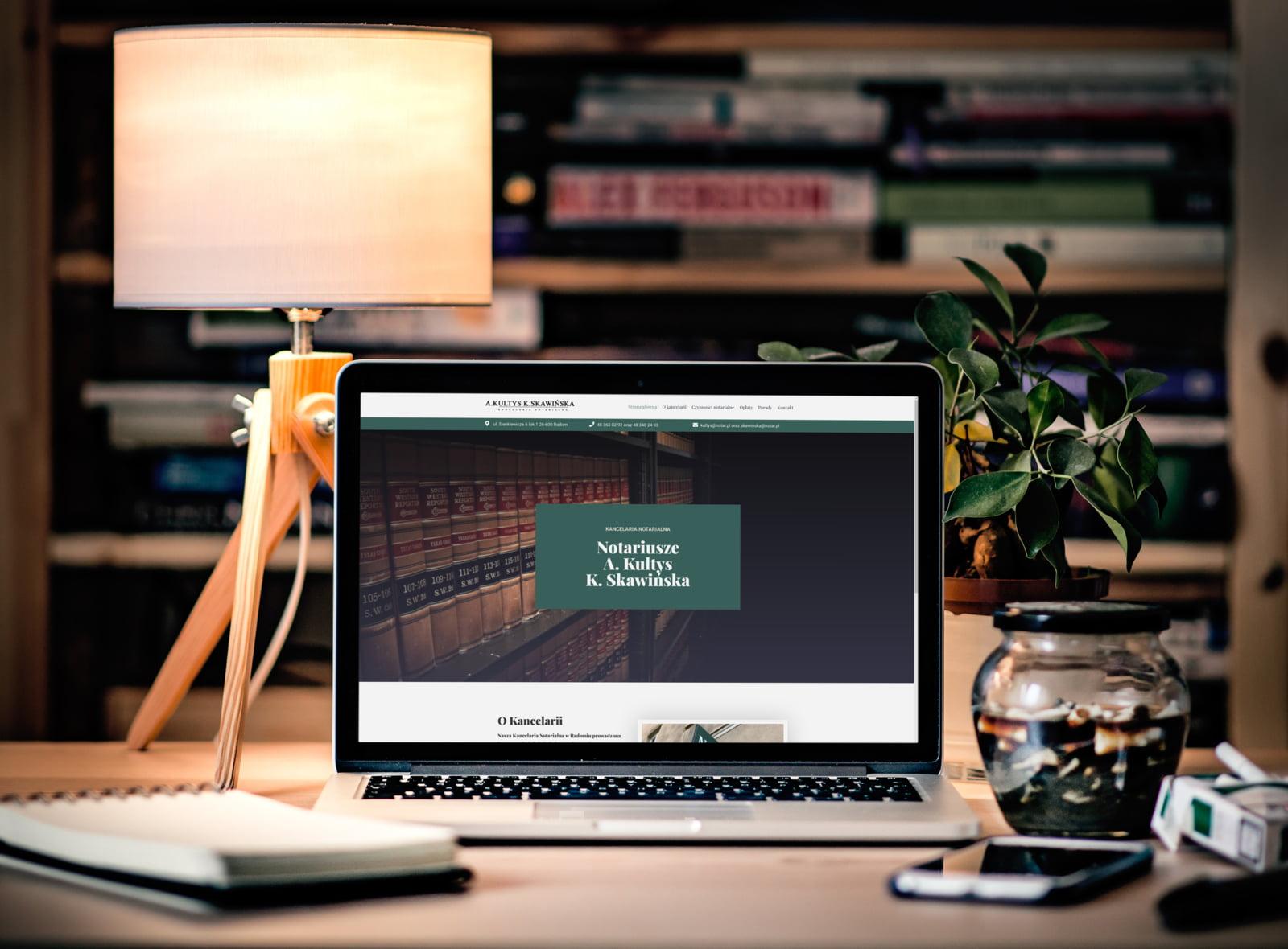 Strona internetowa kancelarii notarialnej
