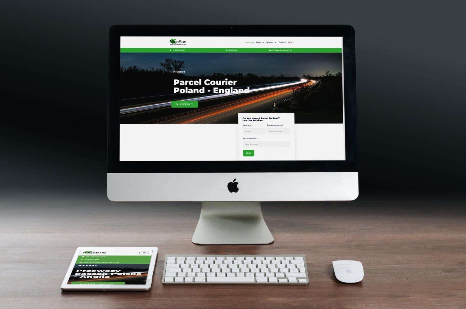 Strona internetowa przewoźnika do Wielkiej Brytanii
